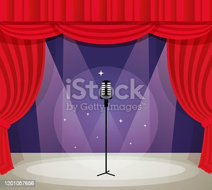 istock stage with microphone 1201057656