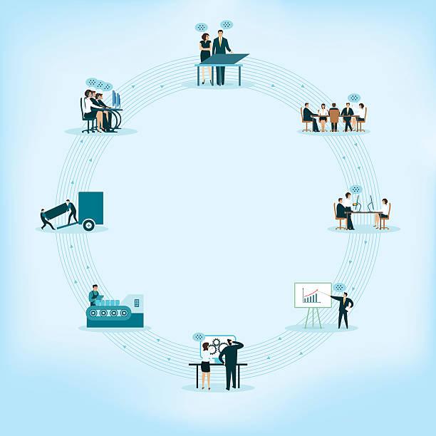 phasen der marketing - frachtpaletten stock-grafiken, -clipart, -cartoons und -symbole