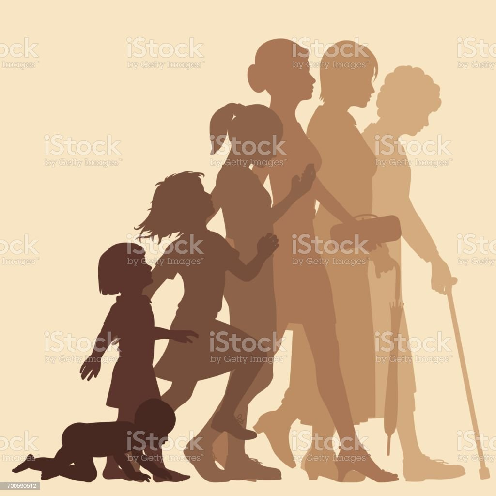 Stages of woman royalty-free stages of woman stock vector art & more images of adolescence