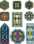 vector stain glass window designs