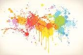 design element with paint