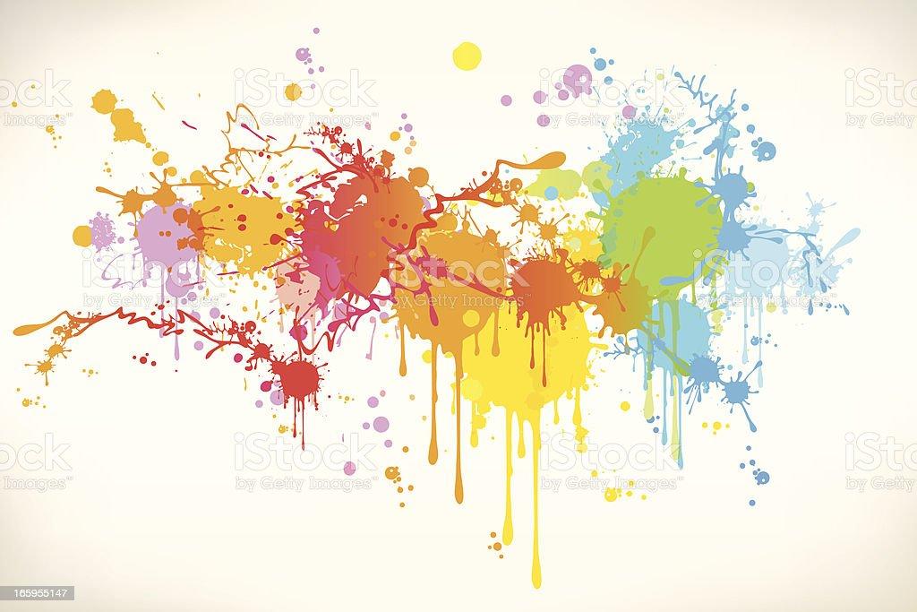 Stained  banner vector art illustration