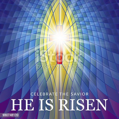 istock Stained Glass He is Risen 930748120