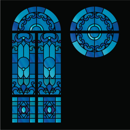 Stained glass window graphic images