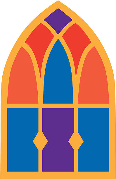 Stained Glass Clip Art : Royalty free church window clip art vector images
