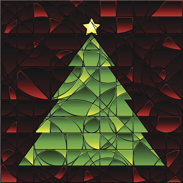 Best Christmas Stained Glass Patterns Illustrations Royalty Free