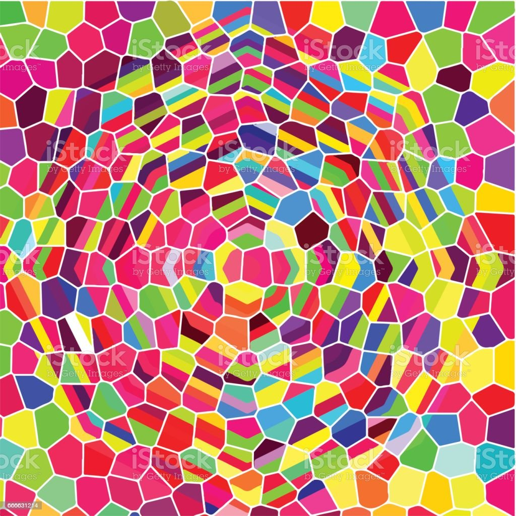 stained-glass window abstract background vector art illustration