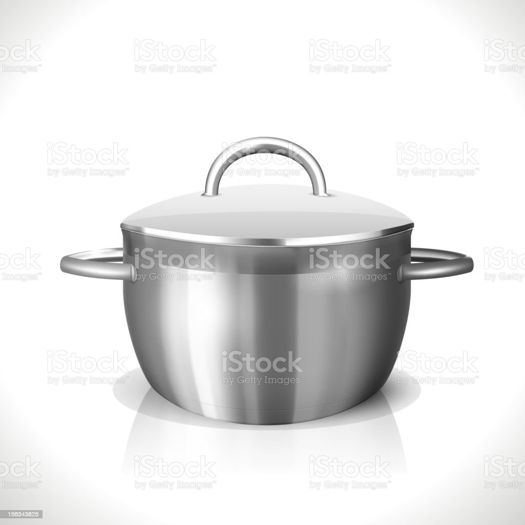 Stainless Pan royalty-free stainless pan stock vector art & more images of cooking