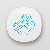 istock Stainless steel container app icon 1199797801