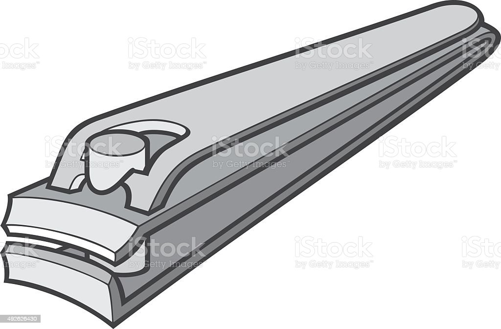stainless steel nail clipper vector illustration vector art illustration