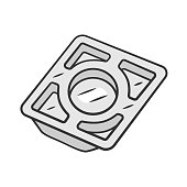 istock Stainless steel tray color icon 1199224297