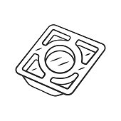 istock Stainless steel tray linear icon 1200118743