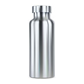istock Stainless steel water bottle mockup. Thermo flask 1270582263