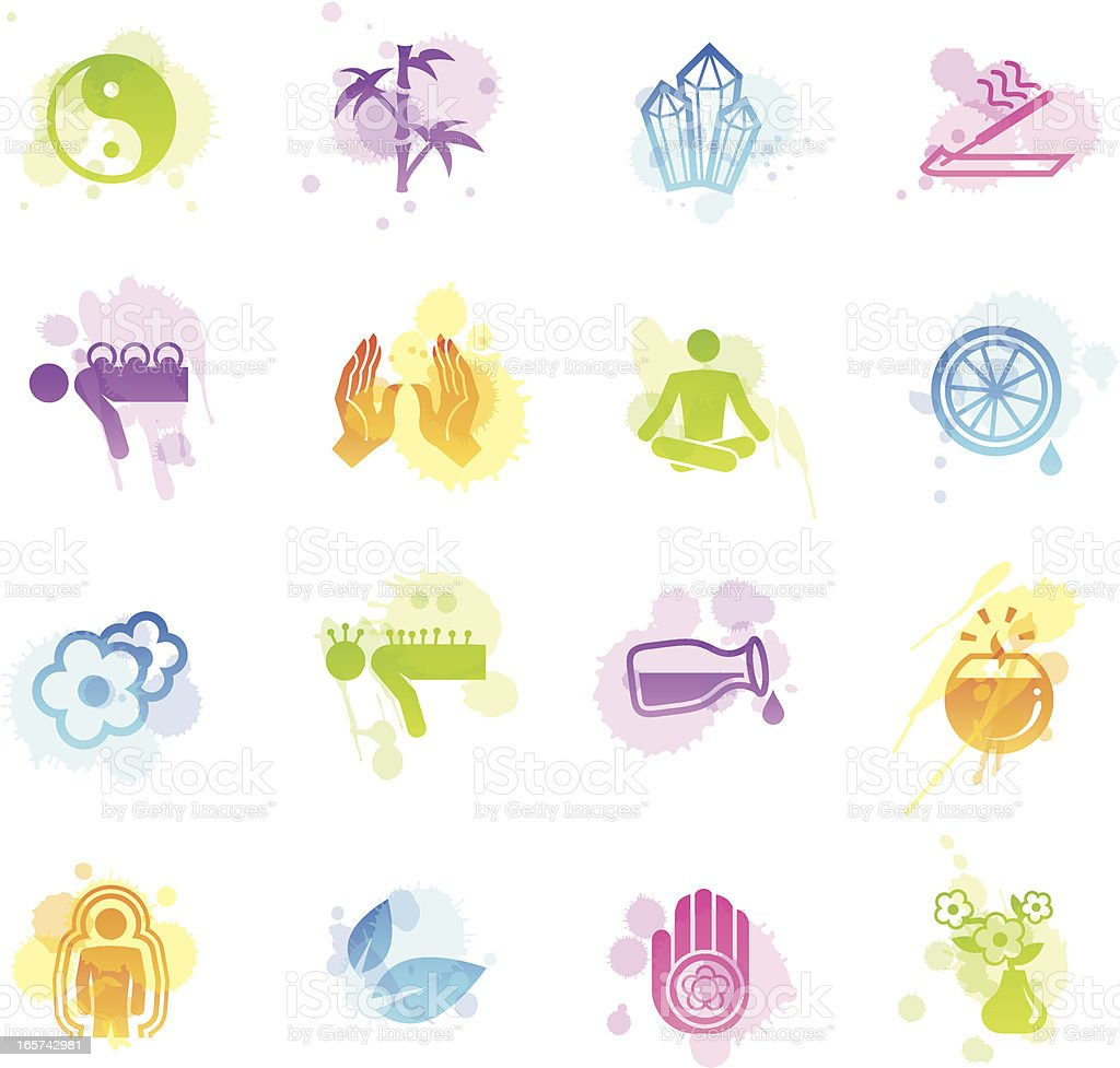 Stains Icons - Alternative Medicine royalty-free stock vector art