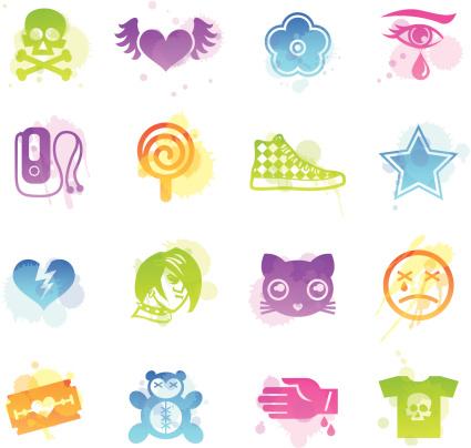Flecken Icons-Emo