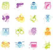 Stains Icons - FBI & Forensics
