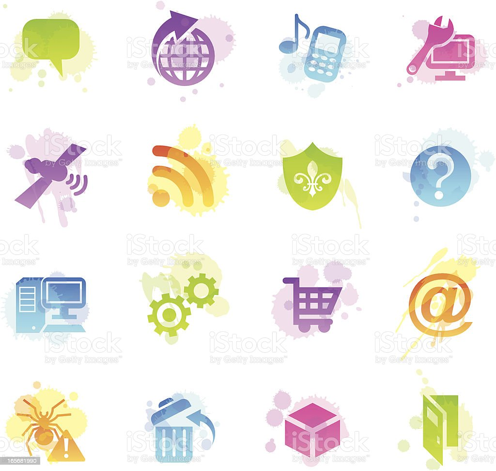 Stains Icons - Internet royalty-free stock vector art