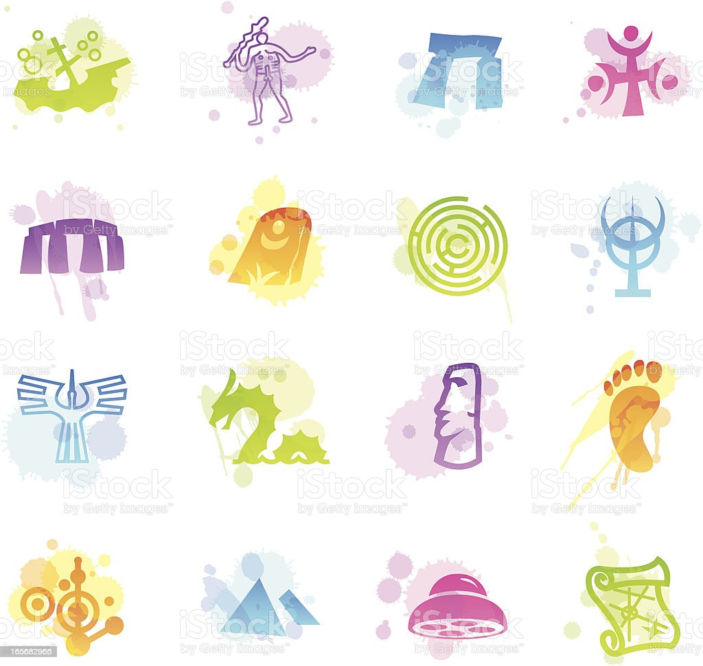 Stains Icons - Mysteries vector art illustration