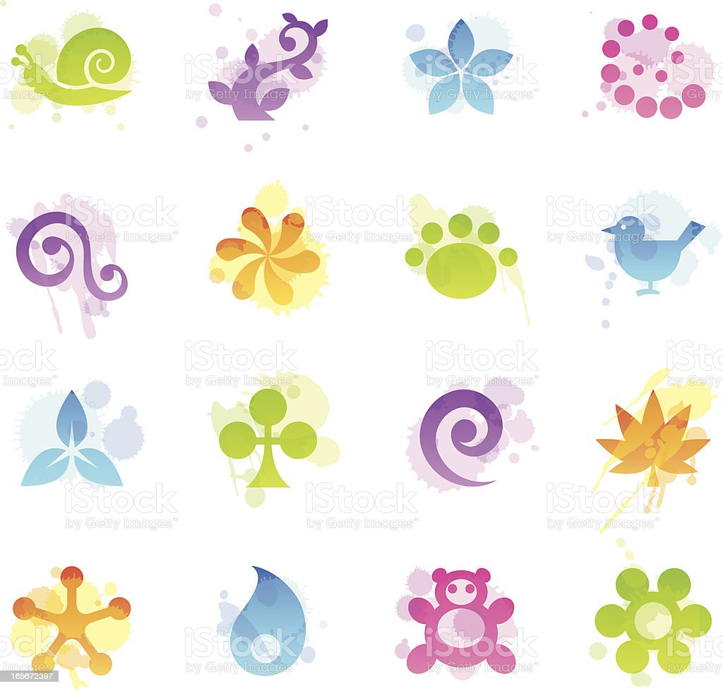 Stains Icons - Nature royalty-free stock vector art