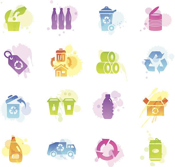 flecken icons-recycling - altglas stock-grafiken, -clipart, -cartoons und -symbole