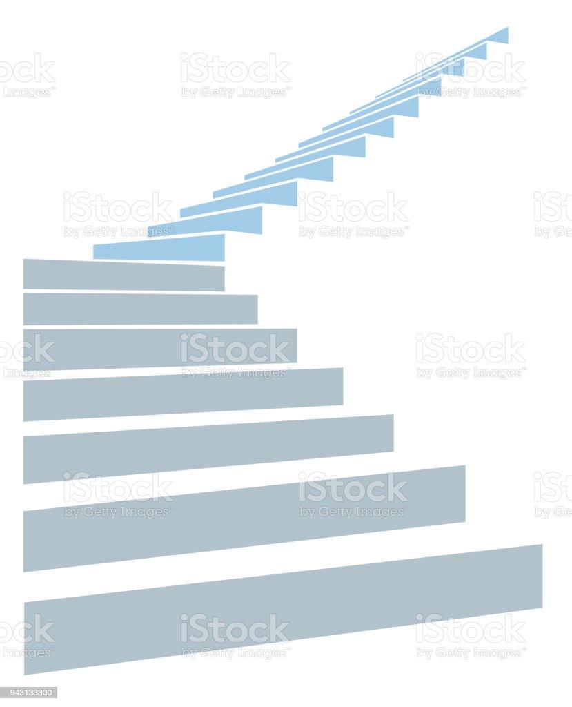 Escalier dans le ciel escalier dans le ciel vecteurs libres de droits et plus d'images vectorielles de blanc libre de droits