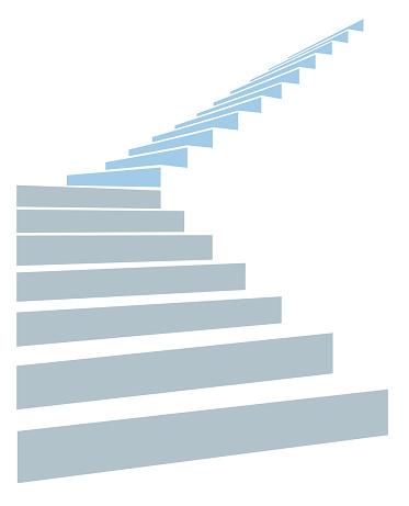 Escalier Dans Le Ciel Vecteurs libres de droits et plus d'images vectorielles de Blanc