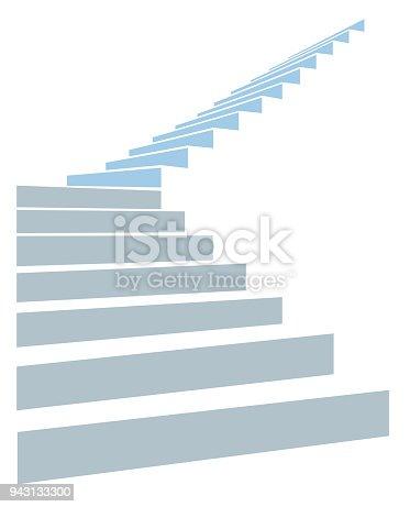 階段 を 上る
