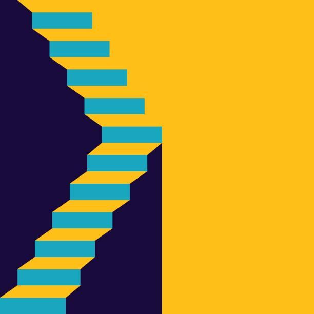 treppe in up - treppe stock-grafiken, -clipart, -cartoons und -symbole