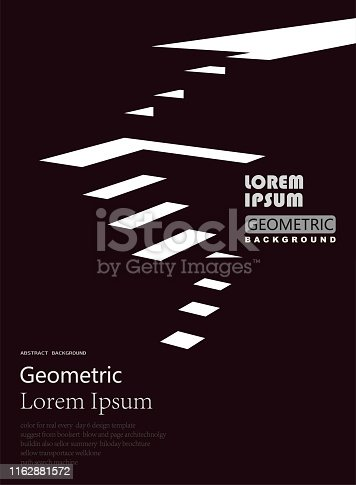 stair style geometric structure pattern background