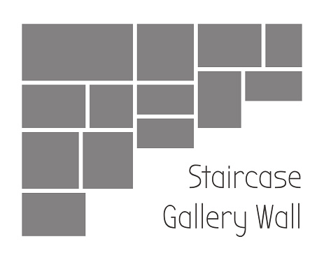 Staircase gallery wall template