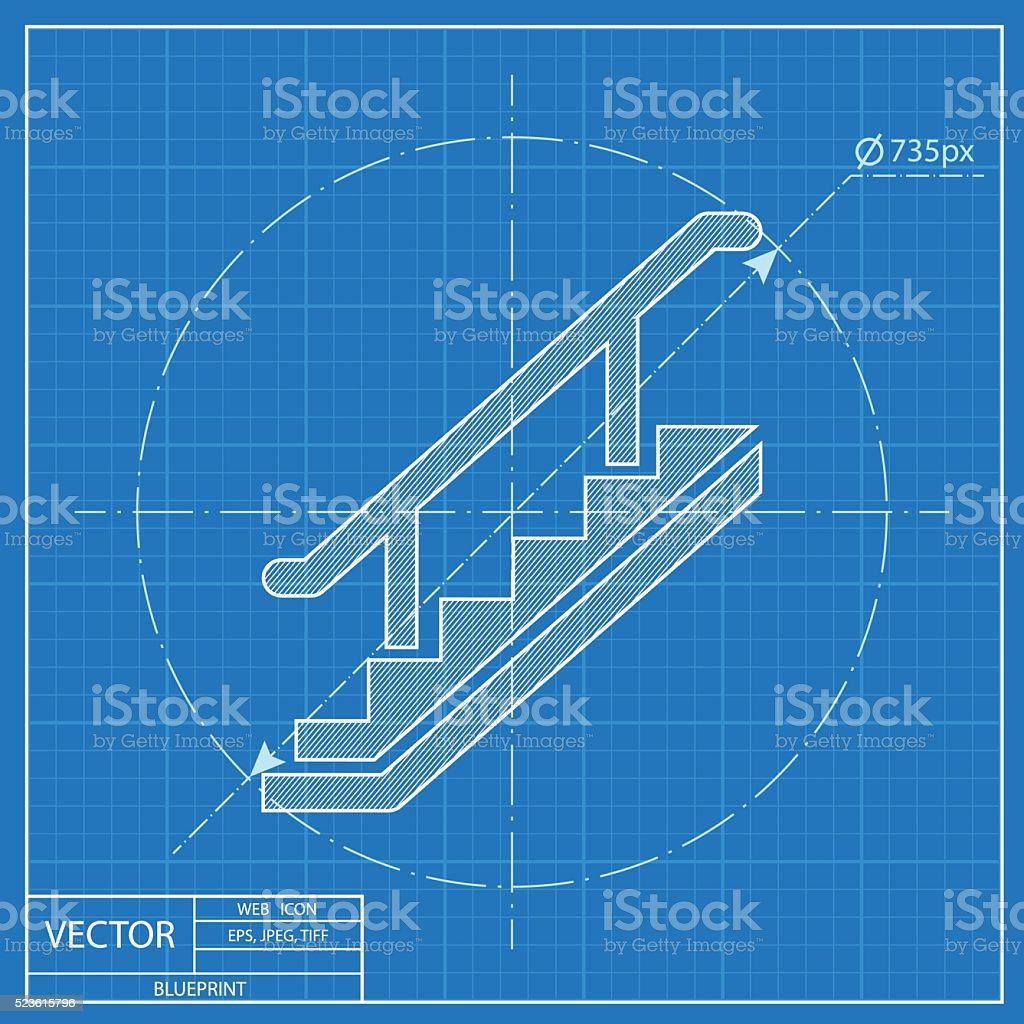 Stairs icon blueprint style stock vector art more images of advice blueprint style royalty free stairs icon blueprint style stock vector art amp malvernweather Images