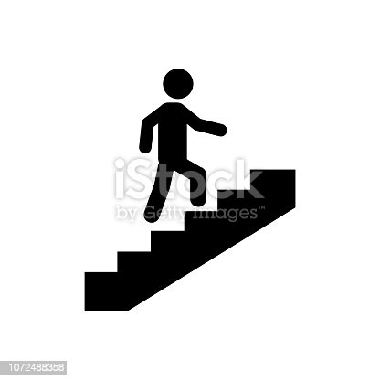 stairs icon on white background