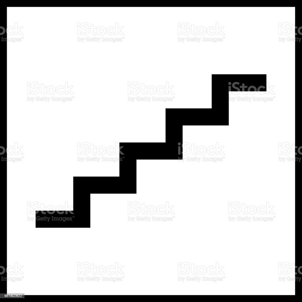 Stairs Sign Outline Vector Stock Vector Art U0026 More Images Of Adult  951802622 | IStock