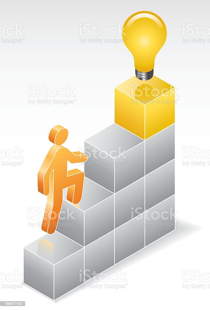 ISO-ICON: Stairs to Enlightenment royalty-free isoicon stairs to enlightenment stock vector art & more images of achievement