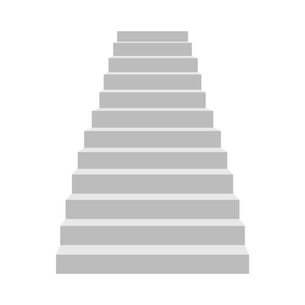 treppe vektordesign illustration isoliert auf weißem hintergrund - treppe stock-grafiken, -clipart, -cartoons und -symbole