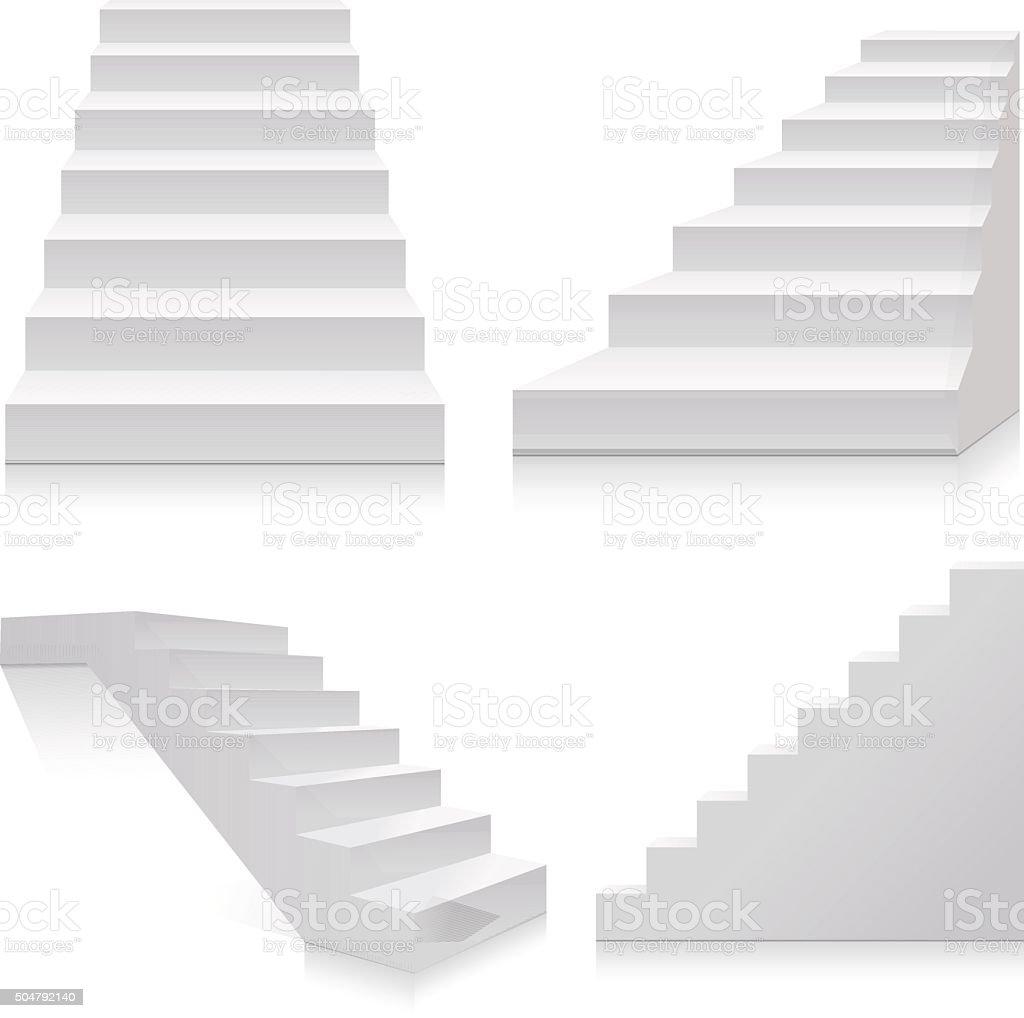 Stairs vector art illustration