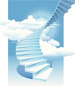 Illustration of the spiral staircase towards the sky