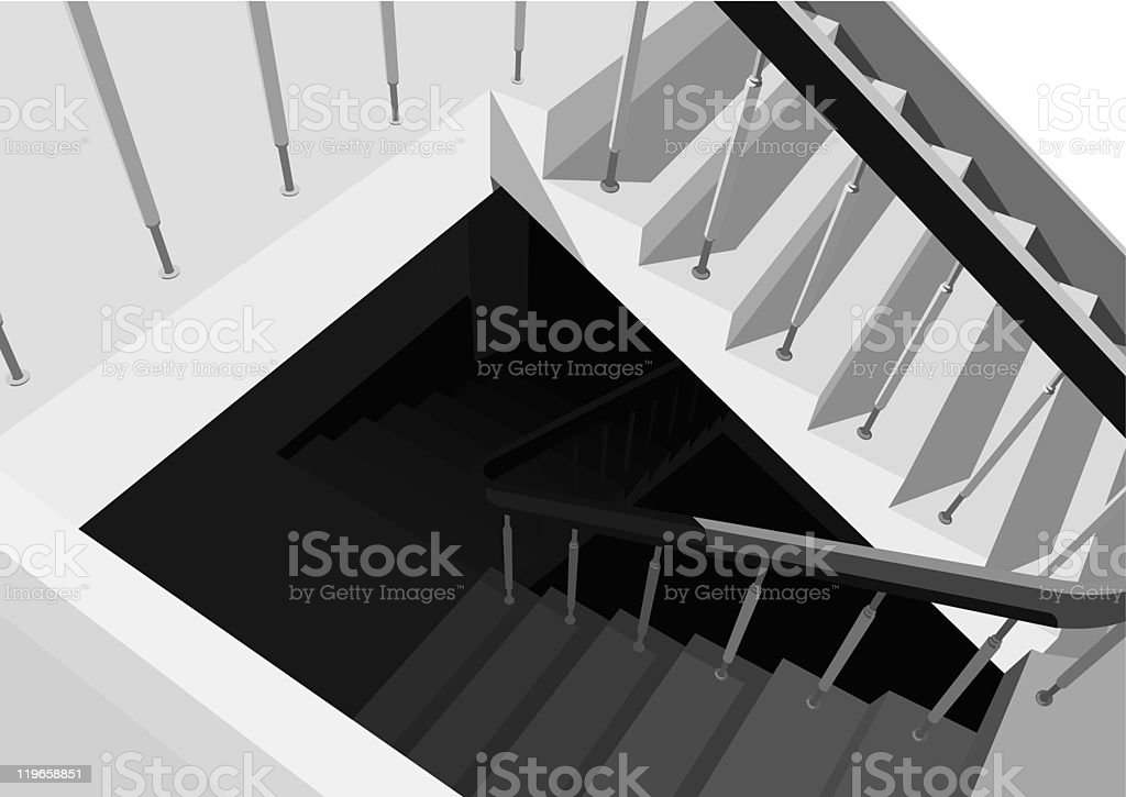 stairway royalty-free stairway stock vector art & more images of bannister