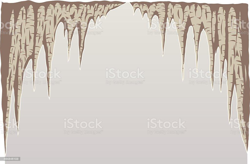 Stalagmite vector art illustration