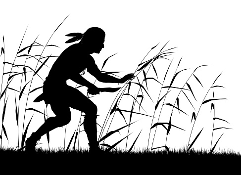 Stalking native silhouette