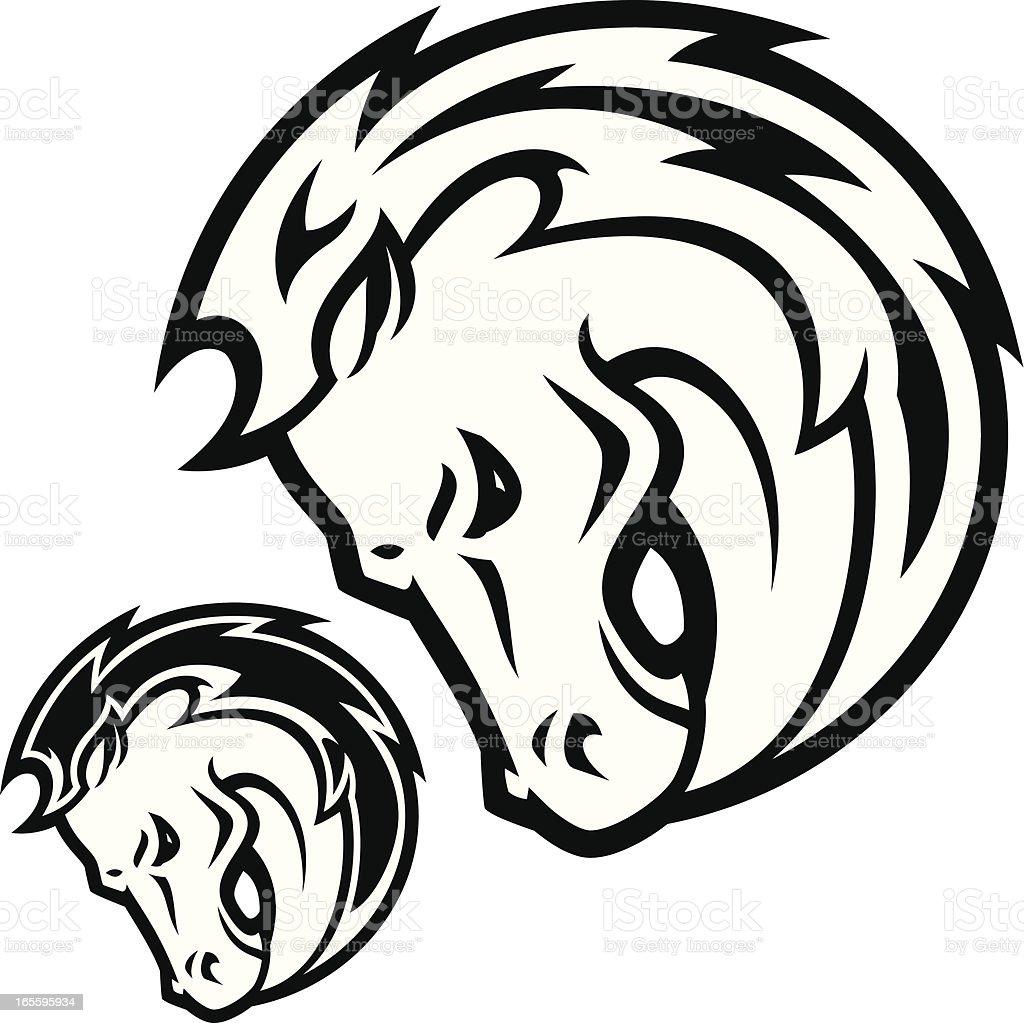 Garañón Cabezal B & W ilustración de garañón cabezal b w y más banco de imágenes de animal libre de derechos