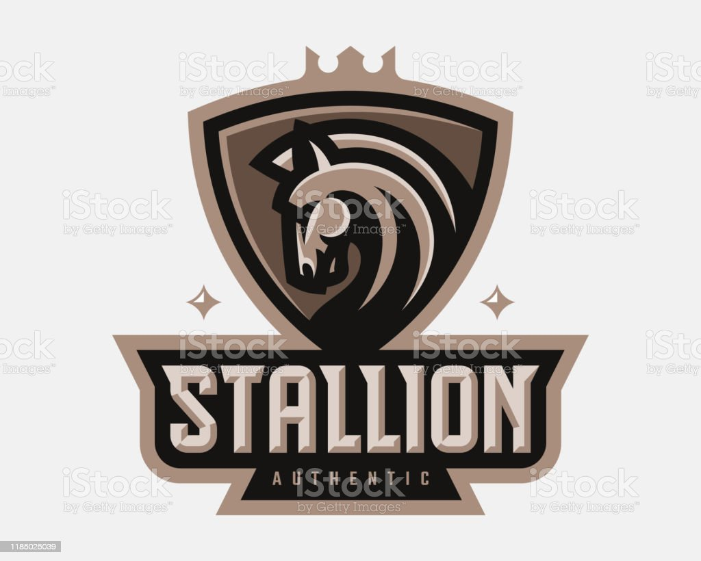 Stallion Modern Mascot Logo Horse Template Design Emblem For A Sport And Esport Team Stock Illustration Download Image Now Istock