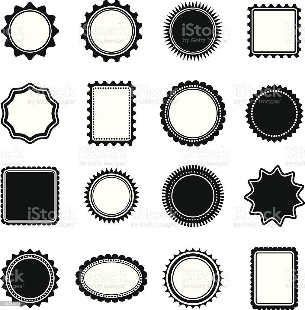 Stamp and Frame shapes vector art illustration