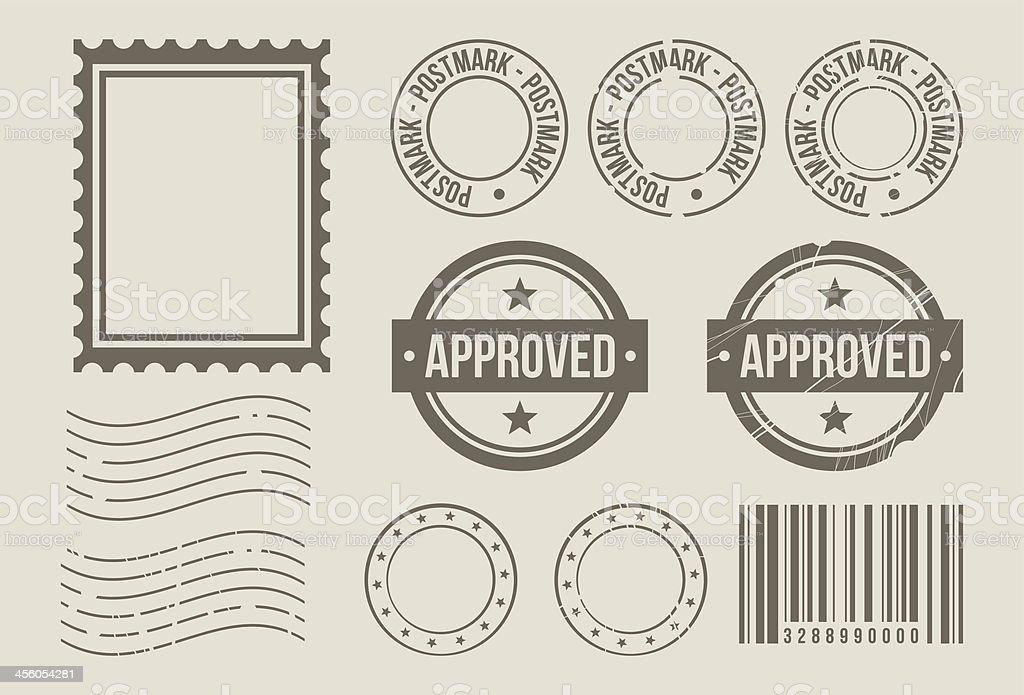 Stempel design-Elemente – Vektorgrafik