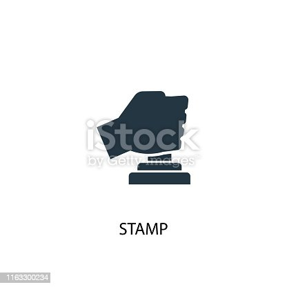 Stamp icon. Simple element illustration. Stamp concept symbol design from Accounting collection. Can be used for web and mobile.