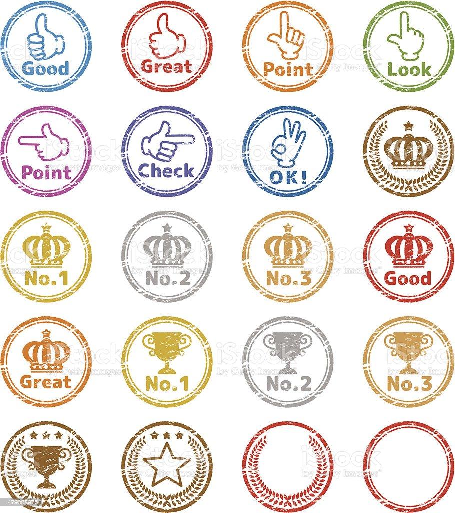 Stamp icon vector art illustration