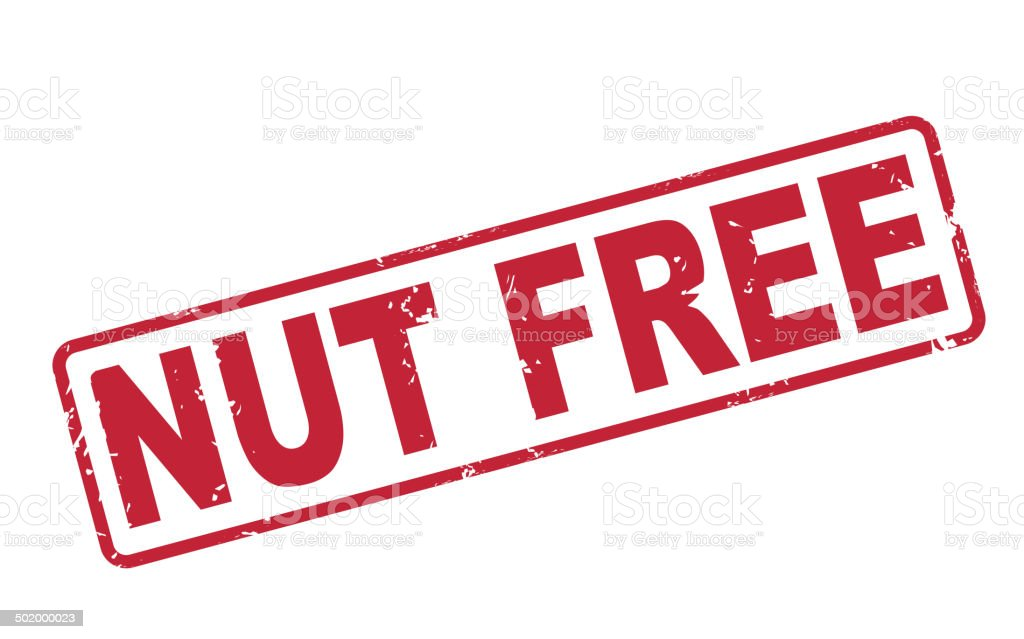 Stamp Nut Free With Red Text On White Stock Vector Art More Images