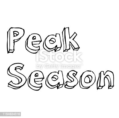 PEAK SEASON stamp on white background. Stickers labels and stamps series.