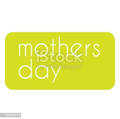 MOTHERS DAY stamp on white background. Labels and stamps series.