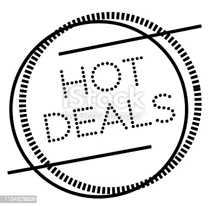 HOT DEALS stamp on white. Stamps and advertisement labels series.